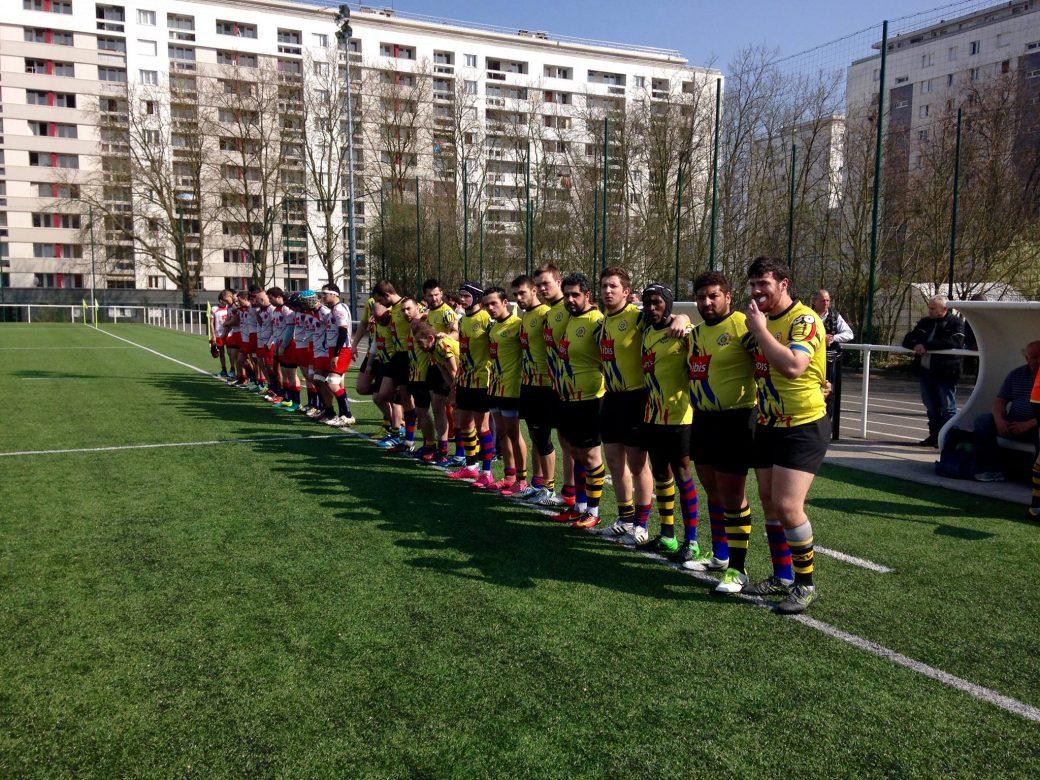 Les séniors avant le cup d'envoi de la rencontre face l'AAS Fresnes Rugby