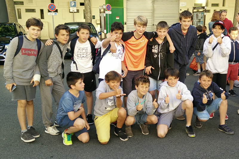 Les U12 au départ de Millandy