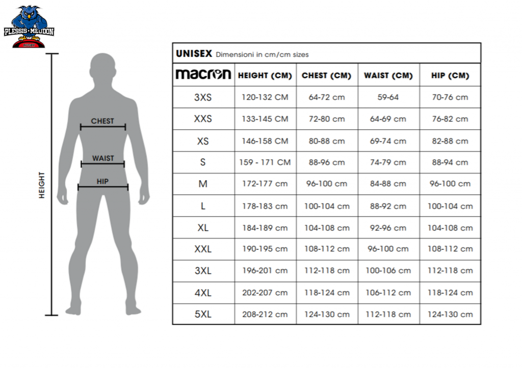 Le guide taille Equipements EPMR